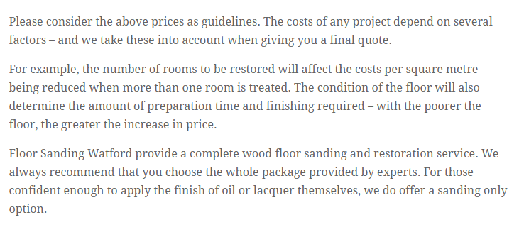 Floor Sanding & Finishing services by ( from) professionalists in Floor Sanding Watford